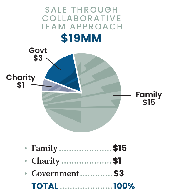 Pie Chart - Sale through collaborative team approach